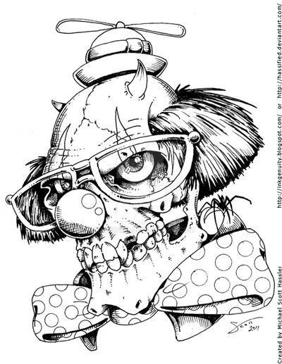 evil clown coloring pages evil clown flickr photo sharing clown coloring evil pages