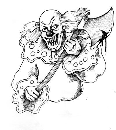 evil clown coloring pages evil clown pencil coloring pages evil coloring clown pages