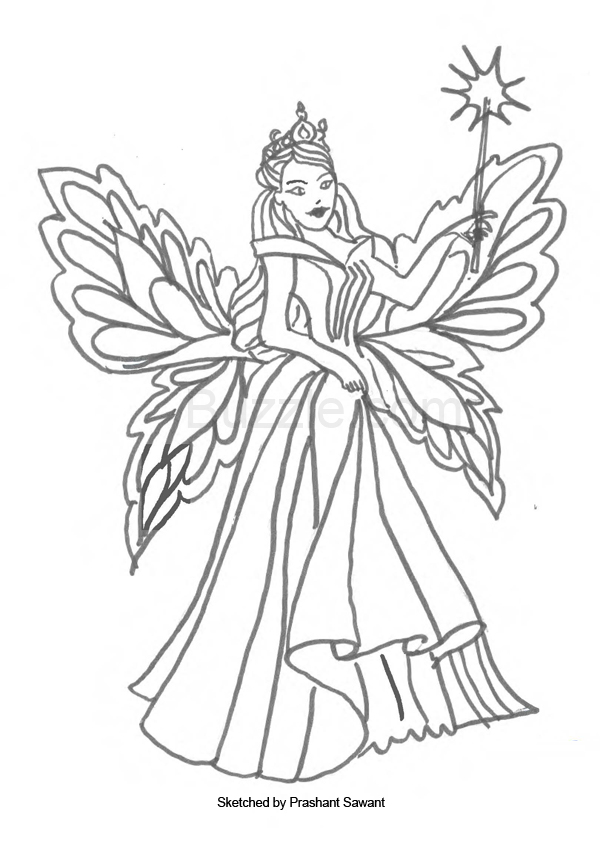 fairy coloring page fairy coloring pages fairy coloring page