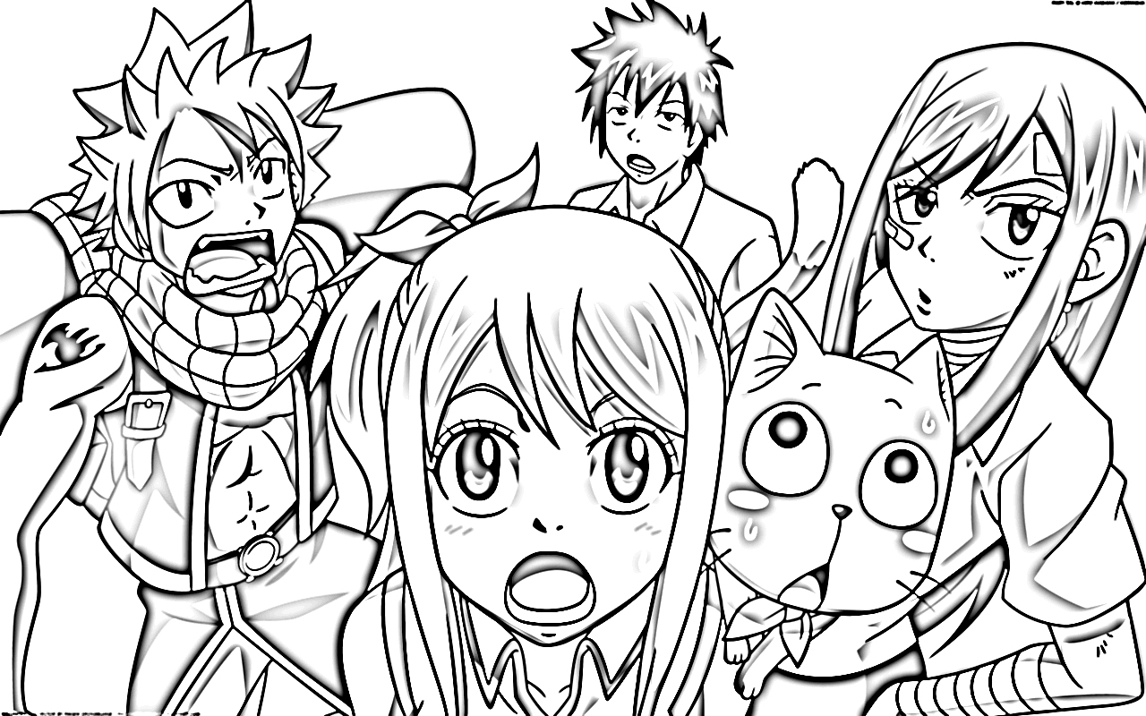 fairy tail manga color fairy tail coloring pages fairy tail anime coloring pages tail manga fairy color