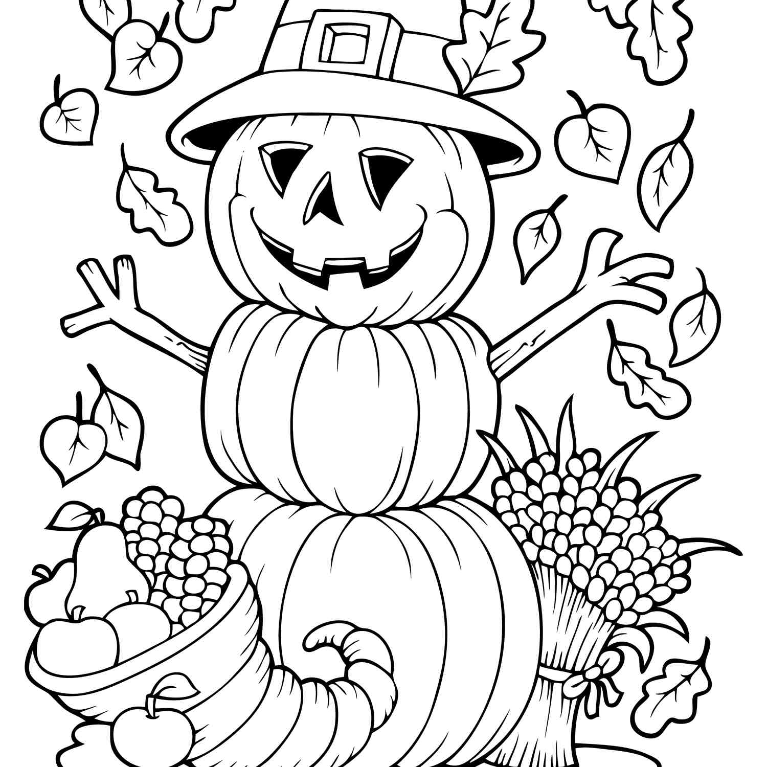 fall coloring sheets printable autumn harvest coloring page free printable coloring pages sheets fall printable coloring