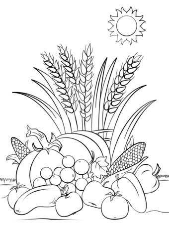 fall harvest coloring pictures fall harvest coloring page coloring malvorlagen pictures harvest coloring fall
