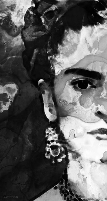 famous paintings black and white frida kahlo by sharon cummings by sharon paintings famous