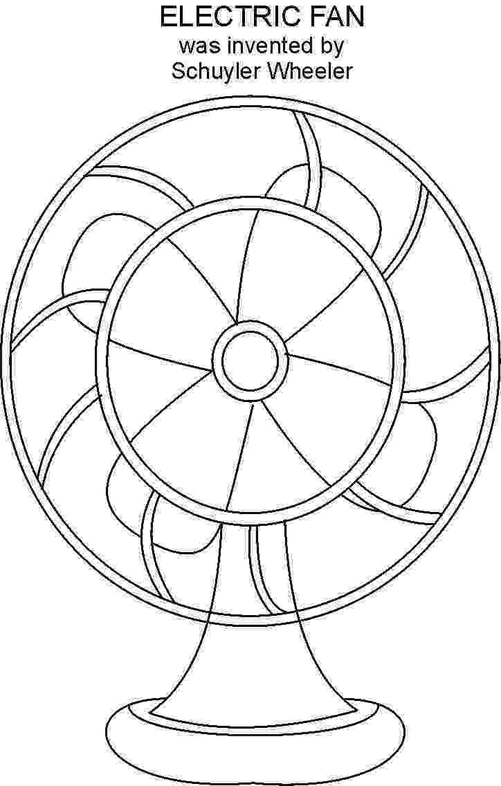 fan coloring pages electric fan coloring pages fan coloring pages