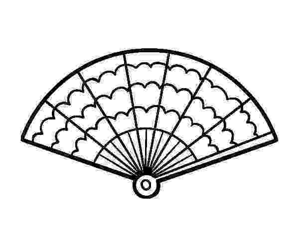 fan coloring pages japanese fan coloring page free printable coloring pages coloring fan pages
