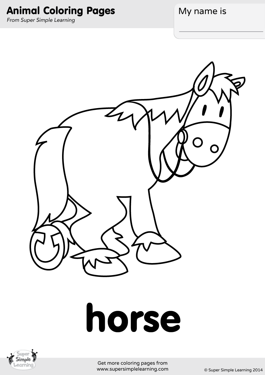 farm animal horse coloring pages horse coloring page super simple farm horse coloring pages animal