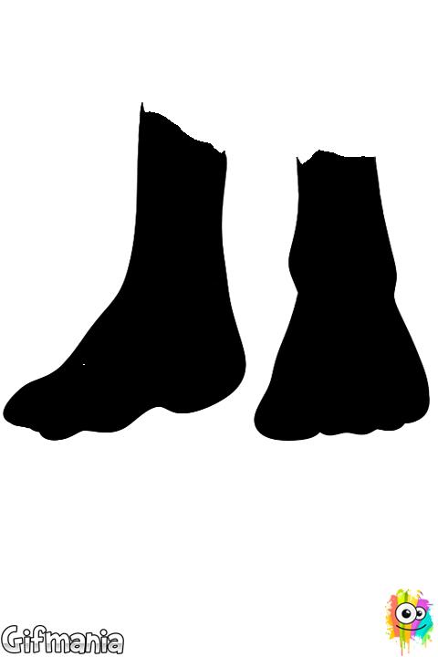 feet coloring sheet footprint pattern printable clipart best coloring sheet feet