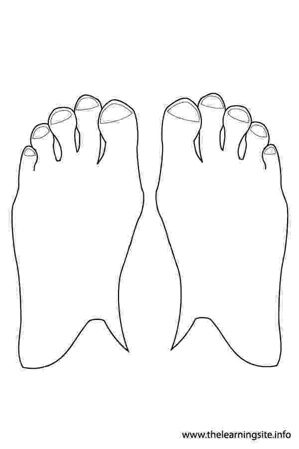 feet coloring sheet human outline template free download on clipartmag sheet feet coloring