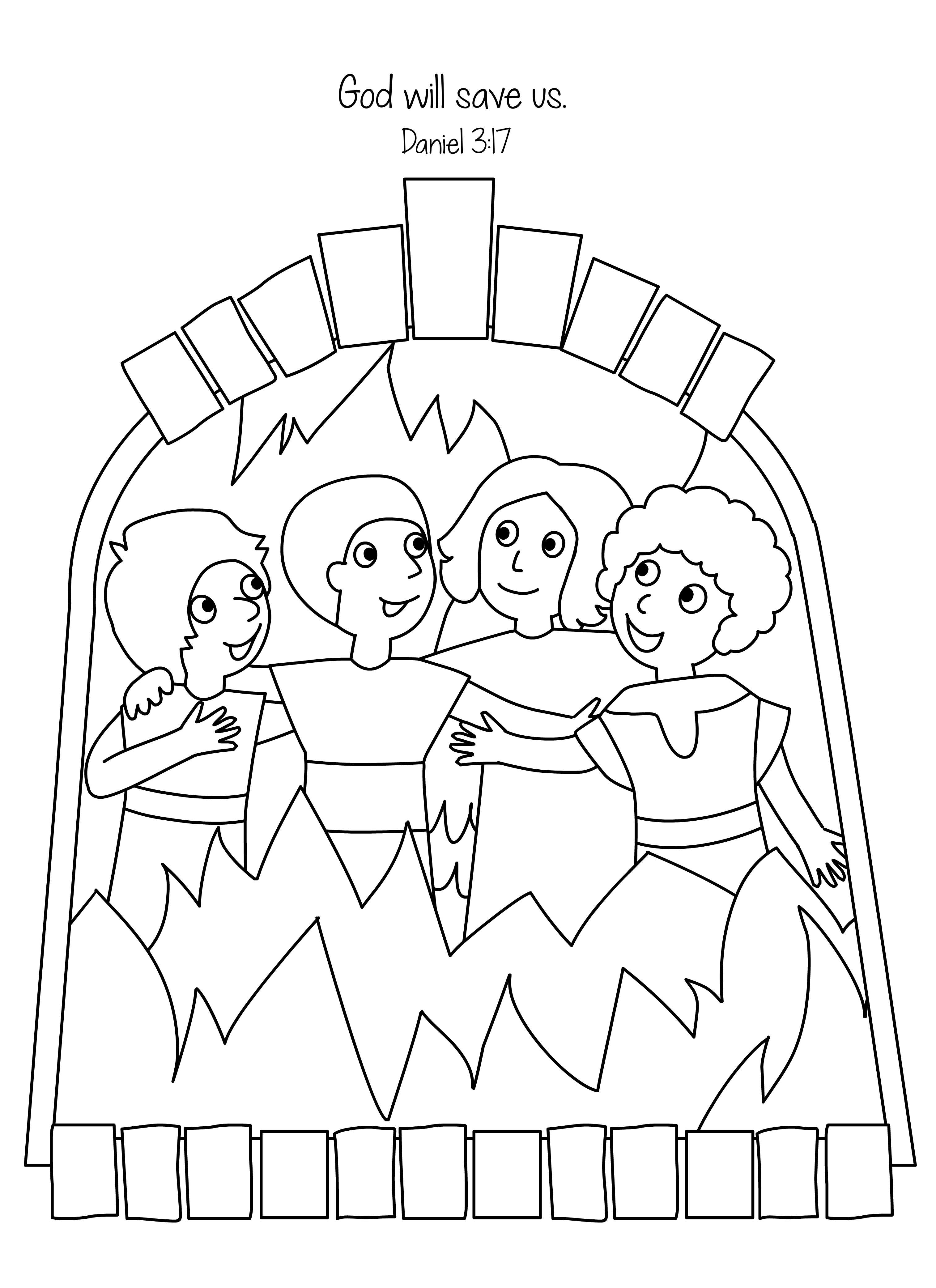fiery furnace coloring page fiery furnace coloring page coloring pages coloring fiery furnace page