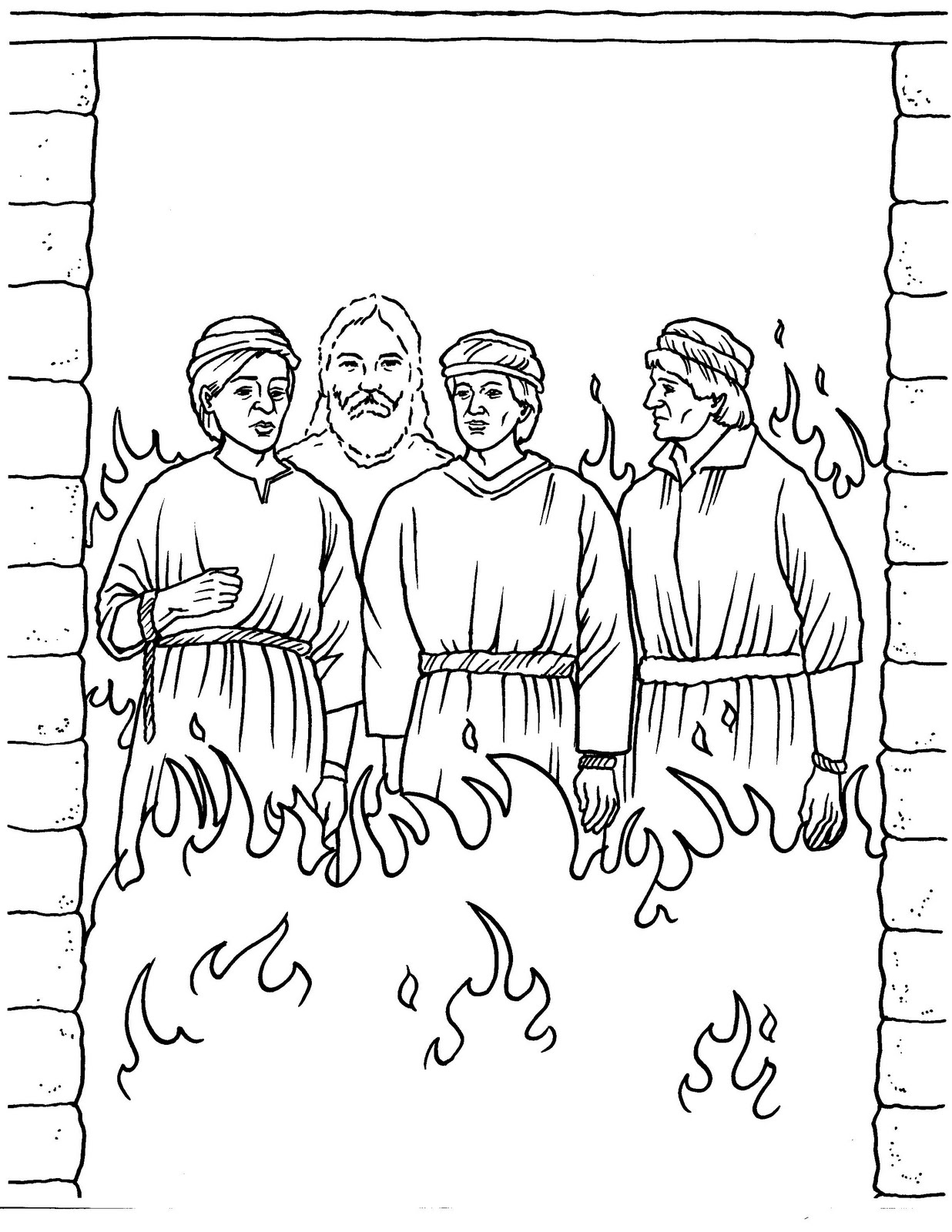 fiery furnace coloring page free bible coloring page shadrach meshach and abednego page coloring fiery furnace