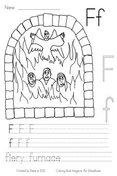 fiery furnace coloring page mybibleabcs ff fieryfurnace byelaine sample the schoolhouse fiery furnace page coloring