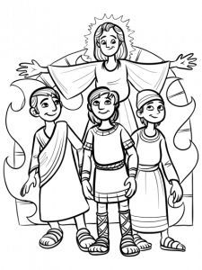 fiery furnace coloring page shadrach meshach and abednego coloring sheet sunday page coloring furnace fiery