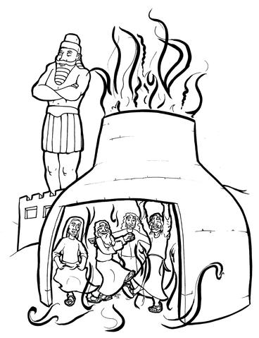 fiery furnace coloring page shadrach meshach and abednego old testament coloring fiery furnace page coloring