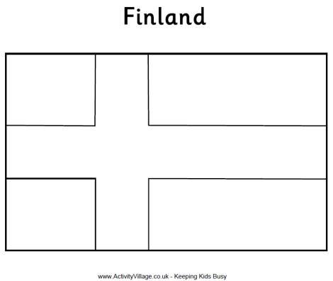 finland flag coloring page desenho da bandeira da finlândia para colorir tudodesenhos coloring flag finland page