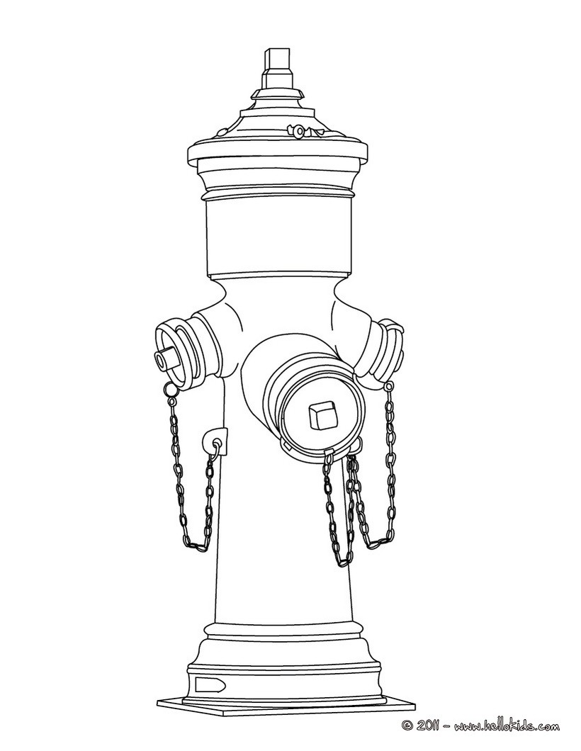 fire hydrant coloring page fireman clipart black and white free download best page hydrant fire coloring