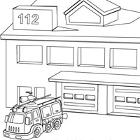 fire station coloring page 62 best national fire prevention week images on pinterest station coloring page fire