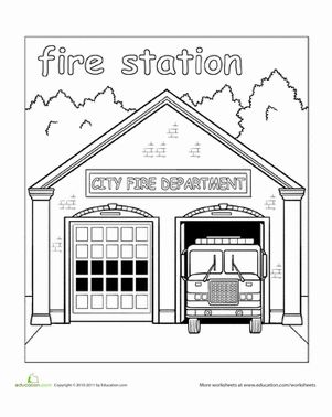 fire station coloring page coloriage caserne de pompiers lego coloriages à station fire coloring page