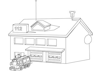 fire station coloring page fire house coloring pages coloring fire station page