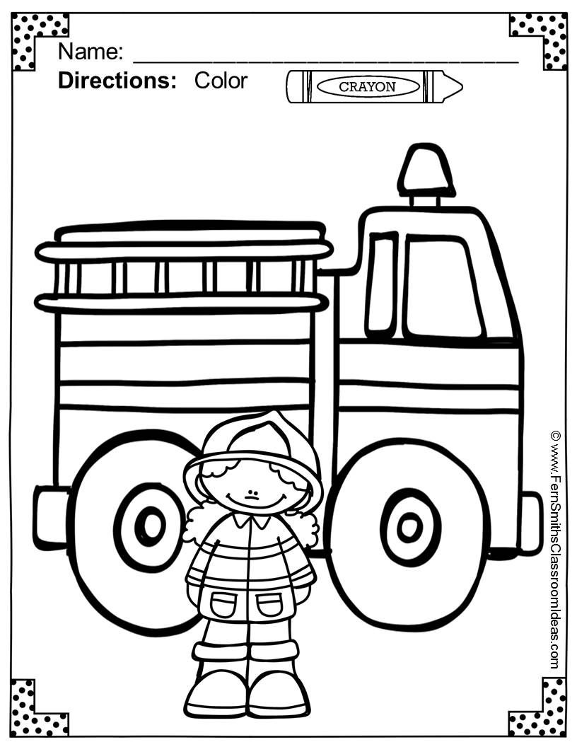 fire station coloring page fire station clipart black and white 20 free cliparts coloring station page fire