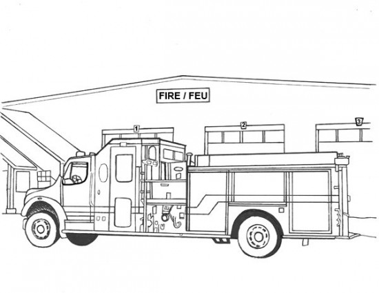 fire station coloring page fire station drawing at getdrawingscom free for station coloring fire page