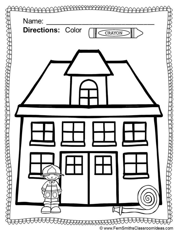 fire station coloring page fire station worksheet twisty noodle station fire coloring page