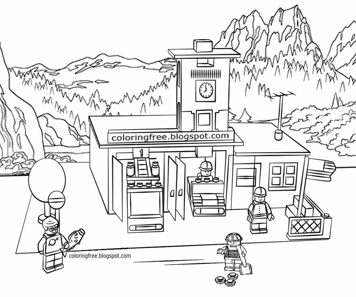 fire station coloring page kids coloring pages random lake fire department coloring station page fire