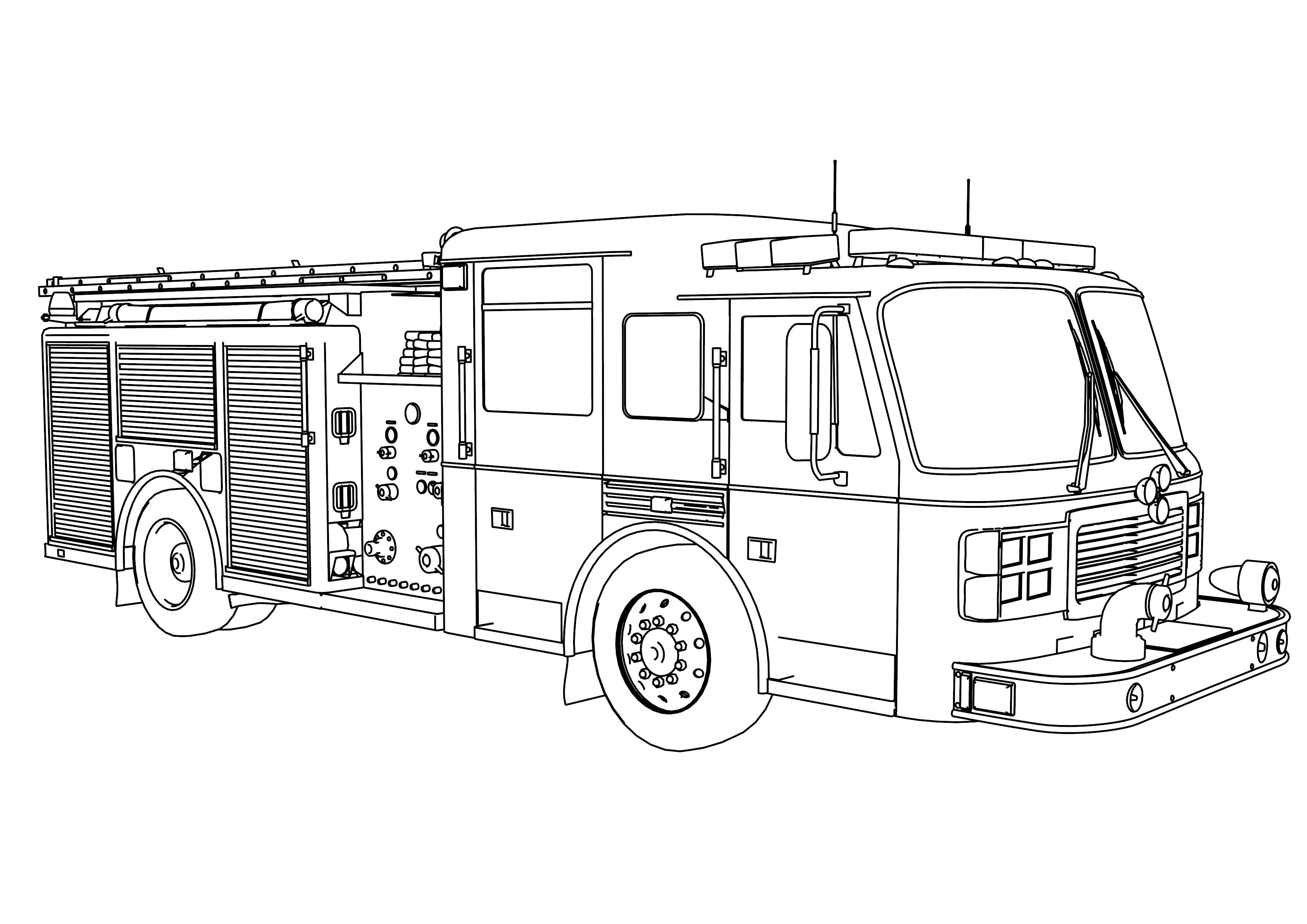 fire truck coloring page fire truck coloring pages getcoloringpagescom truck fire page coloring