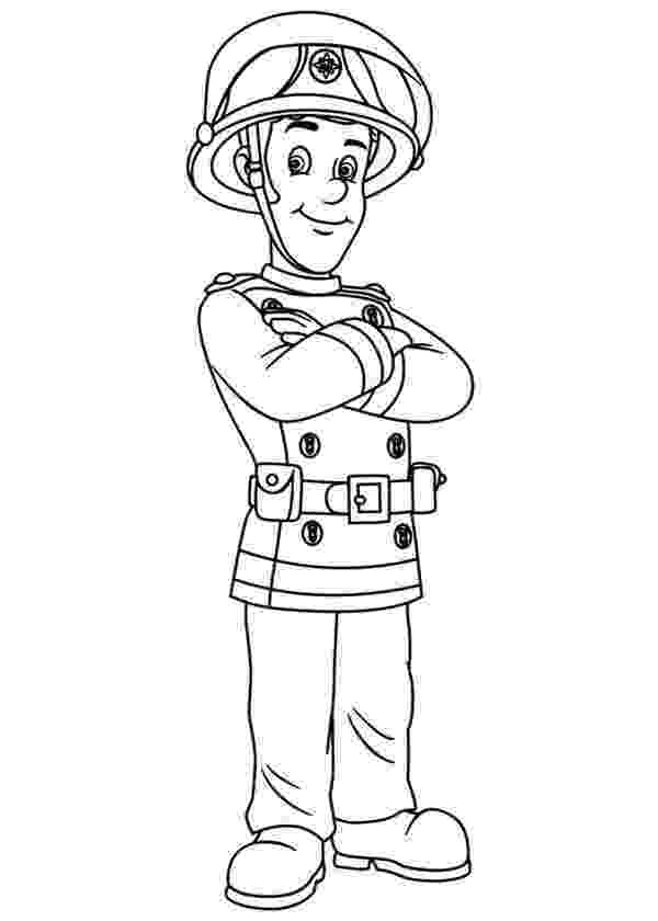 fireman sam coloring pages fireman sam and all fontypandy fire station officer pages fireman coloring sam