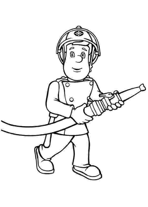 fireman sam coloring pages fireman sam bring hose coloring page coloring sky sam coloring fireman pages
