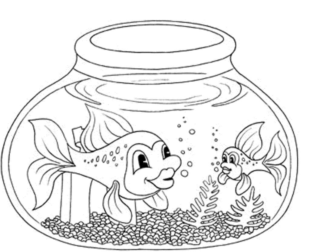 fish aquarium coloring pages fish bowl in aquarium coloring sheet coloring pages aquarium fish