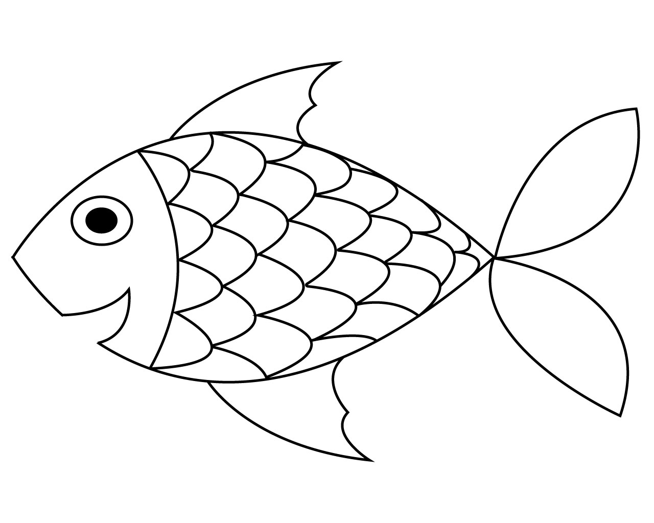 fish color cartoon fish girl coloring page sheet wecoloringpagecom fish color
