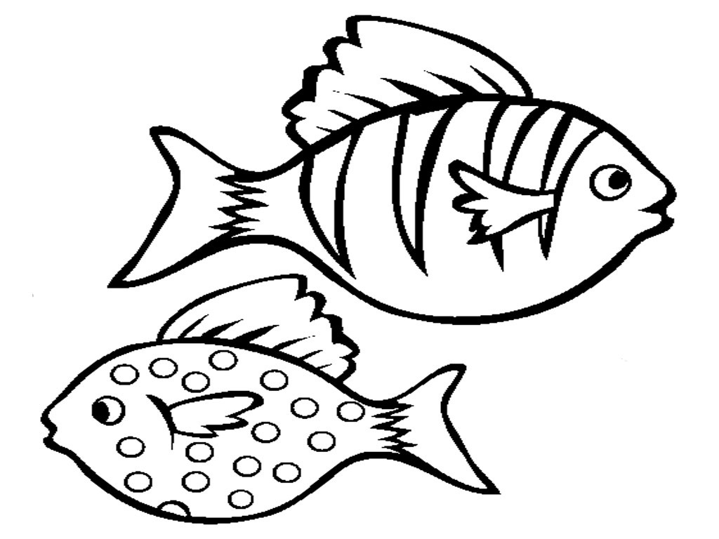 fish coloring for kids free fish outlines for children download free clip art for fish coloring kids