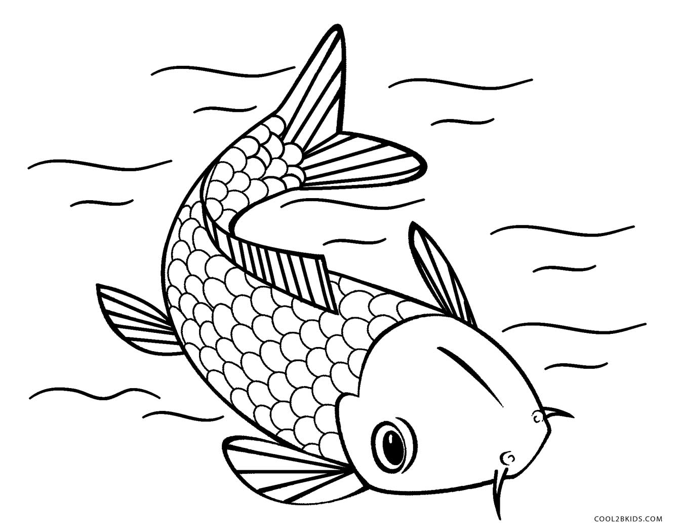 fish printable fish coloring pages for kids preschool and kindergarten fish printable