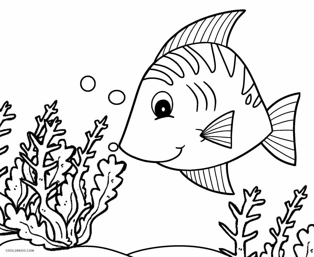 fish printable free printable fish coloring pages for kids tiger cub fish printable