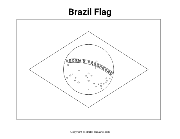 flag of brazil to color brazil flag coloring page flag of brazil to color