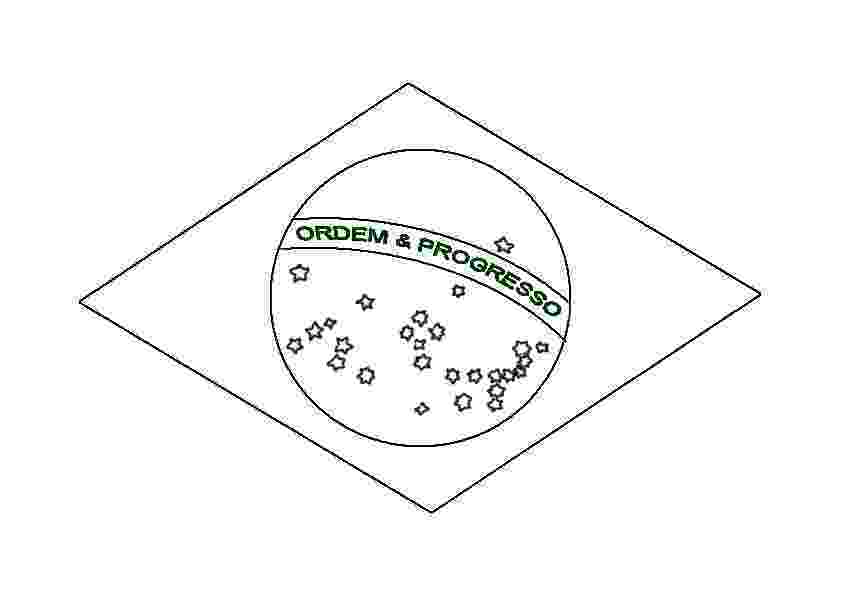 flag of brazil to color brazil39s flag quizprintout enchantedlearningcom brazil color of flag to