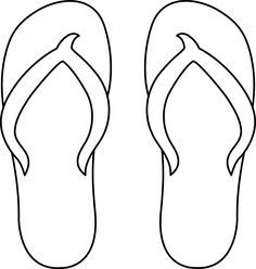 flip flop coloring page 1000 images about zomer on pinterest strands knutselen coloring flop page flip