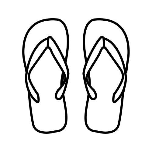 flip flop coloring page flip flop template doliquid flip flop coloring page