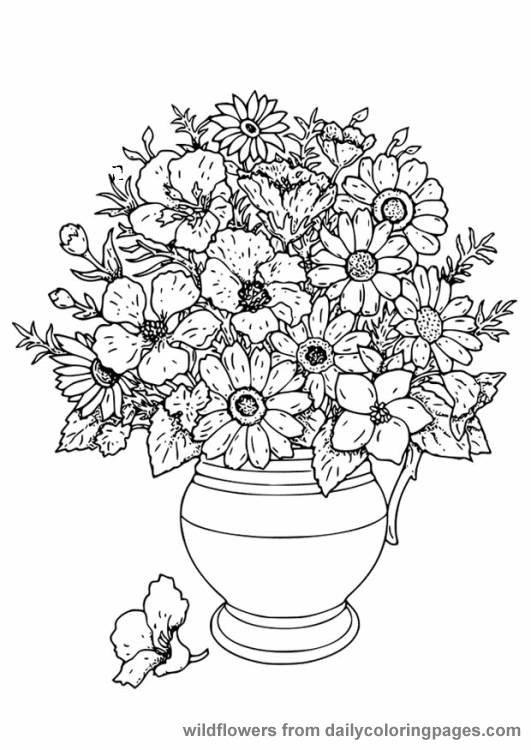 flower color pictures free printable flower coloring pages for kids best pictures flower color