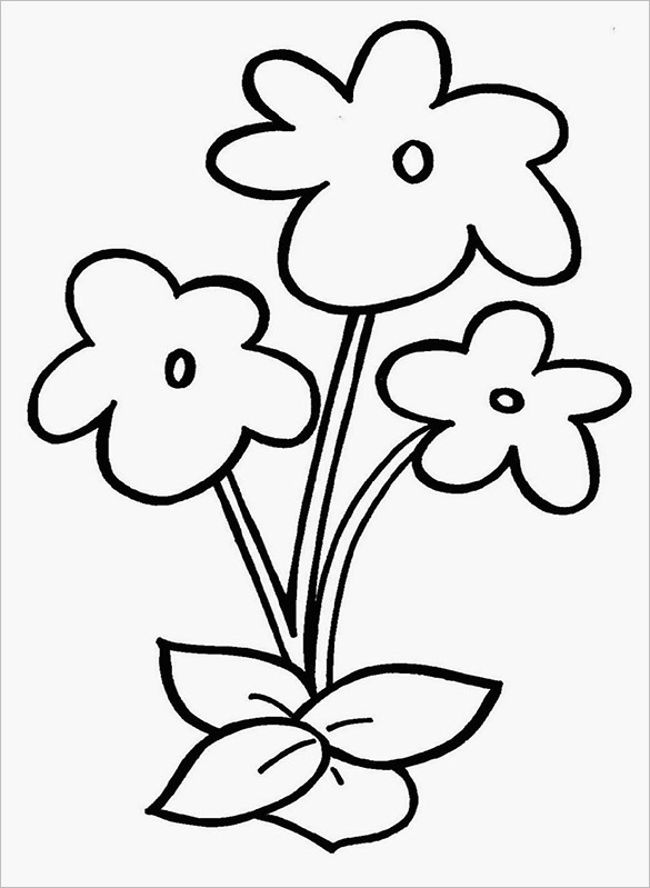 flower coloring page free printable flower coloring pages for kids best page flower coloring 1 1