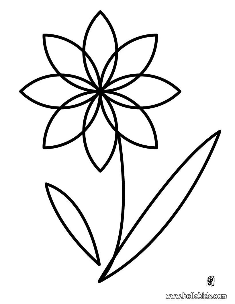 flower coloring page free printable flower coloring pages for kids cool2bkids coloring page flower