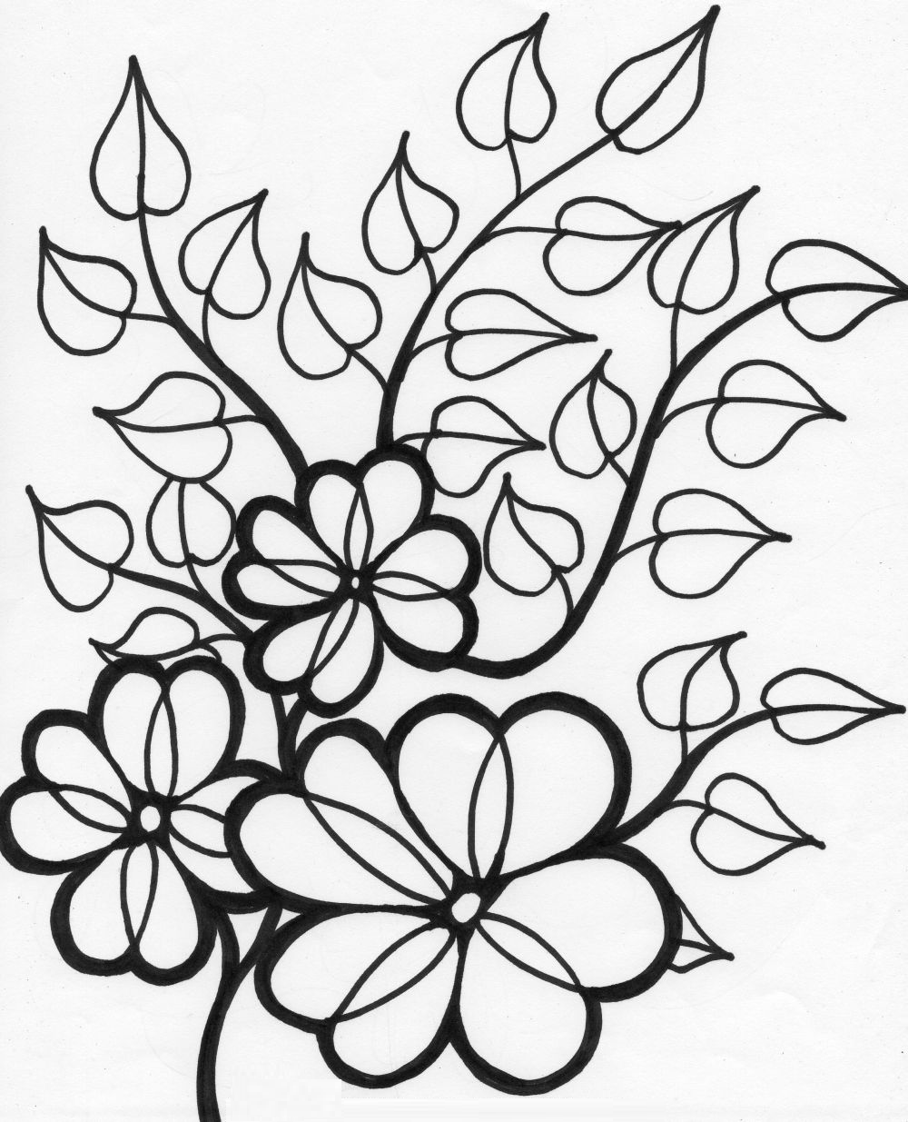 flower coloring page simple flower coloring pages getcoloringpagescom flower page coloring
