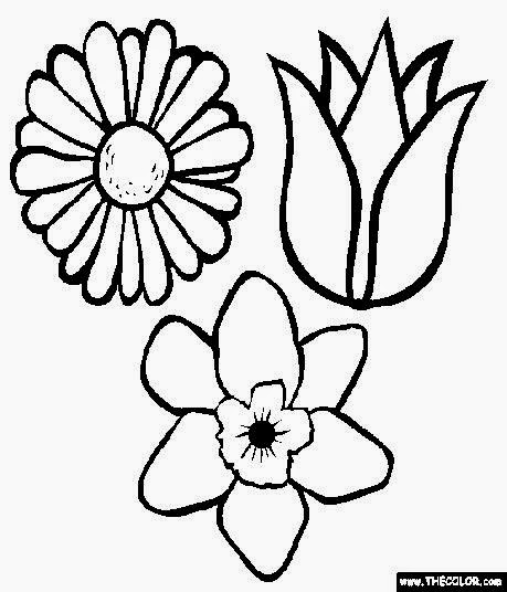 flower coloring page spring flowers coloring page free printable coloring pages flower coloring page