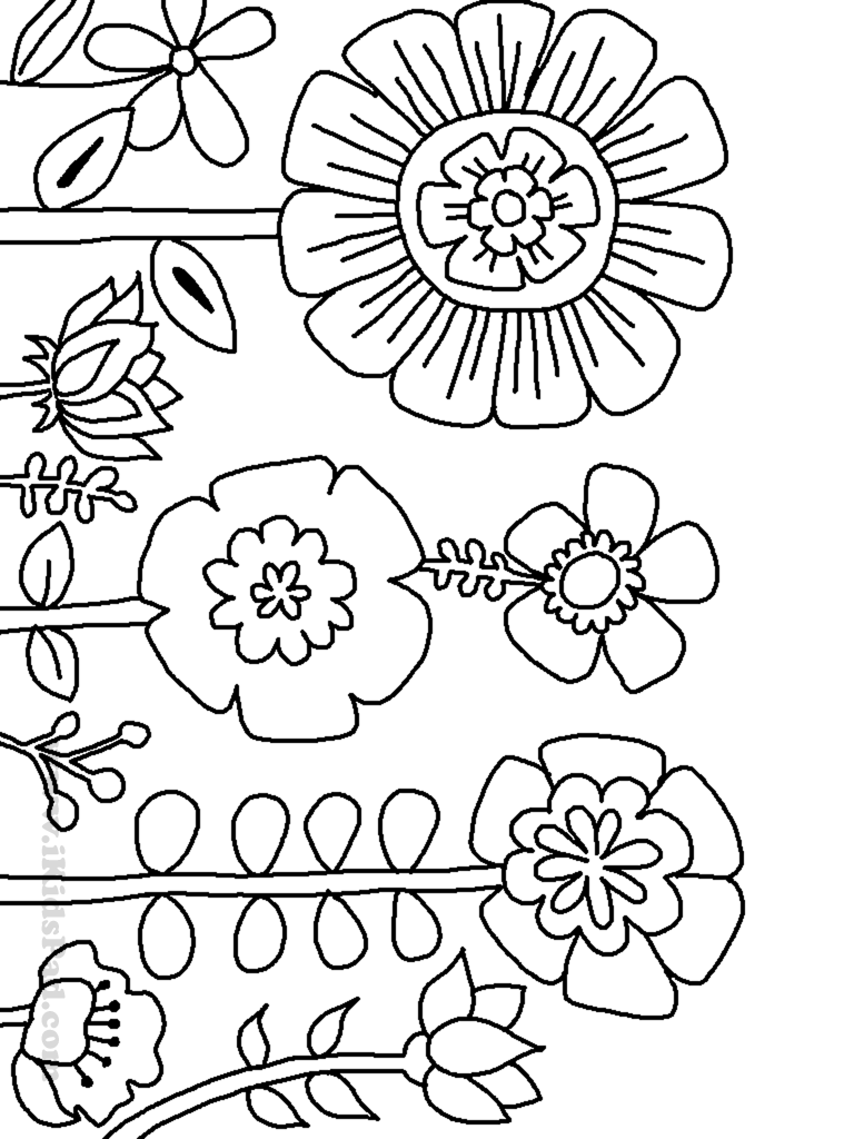 flower colouring pictures to print free printable flower coloring pages for kids cool2bkids to pictures print flower colouring