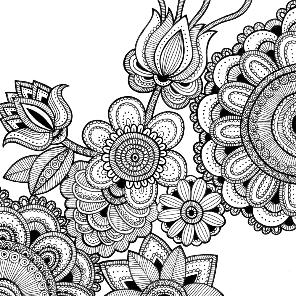 flower patterns to color 25 flower mandala printable coloring page by printbliss flower color patterns to