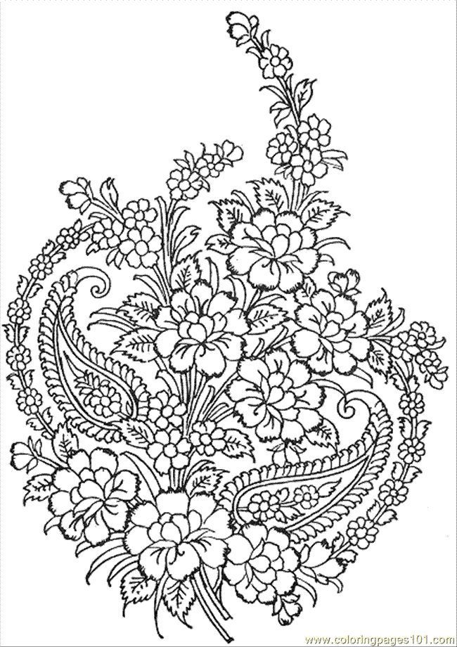 flower patterns to color floral pattern coloring page free printable coloring pages color to flower patterns
