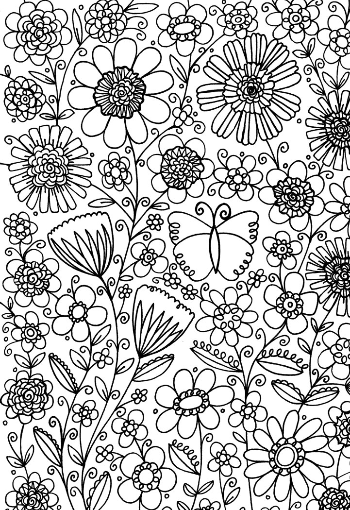 flower patterns to color flower coloring page flower 86 color it abstract flower color to patterns