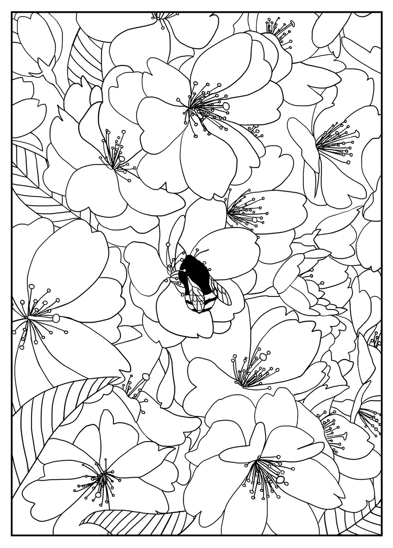 flower patterns to color printable adult colouring page digital download print flower patterns flower to color