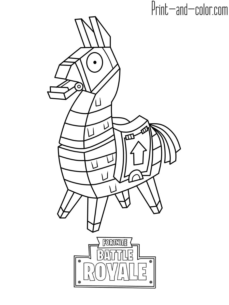 fortnite llama coloring page best fortnite coloring pages printable free coloring page fortnite coloring llama