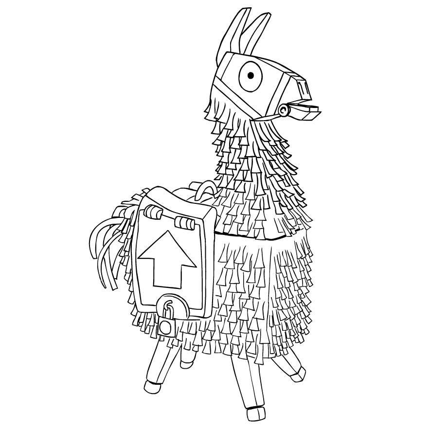fortnite llama coloring page fortnite coloring pages llama berbagi ilmu belajar bersama page coloring llama fortnite